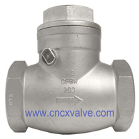 Screwed Stainless Steel Swing Check Valve