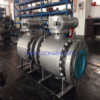 Forged Steel Flanged Type Trunnion Mounted Ball Valve