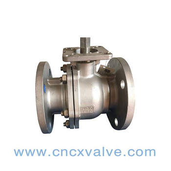 2PC Ball Valve Flanged End With Direct Mounting Pad