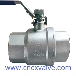 2PC Body DIN3202-M3 Threaded Ball Valve