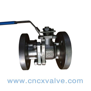 2PC Flanged Floating Ball Valve