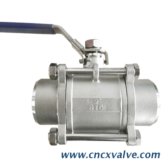 3 PC Butt Weld End Ball Valve